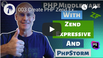 Creating PHP middleware with Zend Expressive modules, and using routing with FastRoute