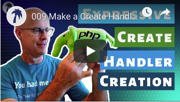 Make a Create handler in an Expressive REST API PHP Project