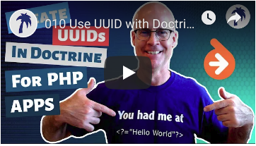 Add UUID to Doctrine ORM in a Zend Expressive application for a REST API PHP Project